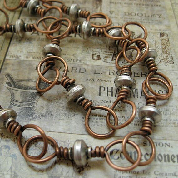 Love these ~~ Rustic, chunky wire links