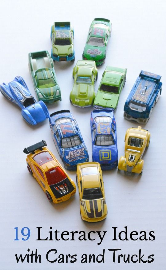 literacy ideas with cars and trucks