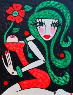 Schilderijen veiling - Tetiana Gorbachenko - Er bloeit iets