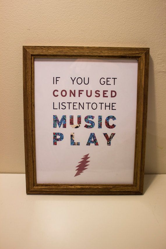 Grateful Dead Quote Wall Frame by RubyRawArt on Etsy