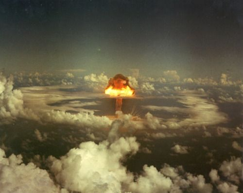 The King Shot nuclear test at Enewetak Atoll, November 15, 1952, part of Operation Ivy.(Department of Energy)                                                                                                                                                                                 More