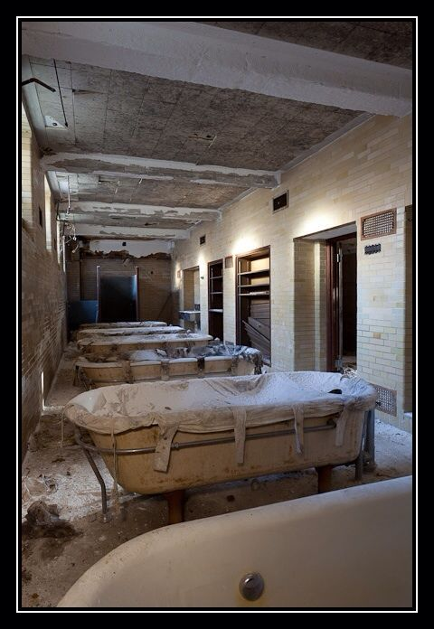 Hydrotherapy tubs at the infamous Greystone Psych Ward