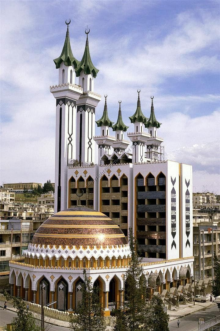 Al-Rahman Mosque in Aleppo, Syria i had a veiw of this from the hospital  after having my daughter...... love