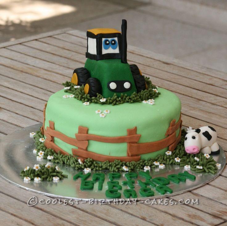 Tractor Birthday Cakes Tractor Birthday Cake Farm Tractor Birthday Cake Childrens