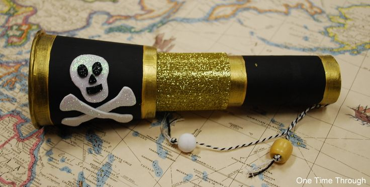 This is the coolest pirate telescope that kids can make! It has a view with moving water and whatever kind of sea picture your kiddo wants to have!