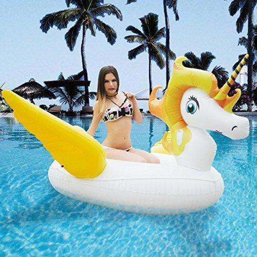Oferta: 49.99€ Dto: -50%. Comprar Ofertas de Flotador Unicornio HooYL Unicornio Hinchable con Alas Juguete para la Piscina Playa Colchoneta Hinchable Piscina 270X220X130c barato. ¡Mira las ofertas!