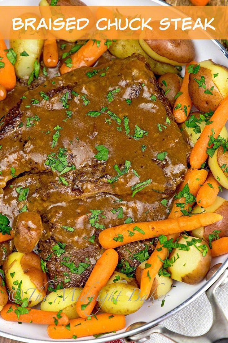 This braised chuck steak is the perfect dinner for the coming cooler evenings