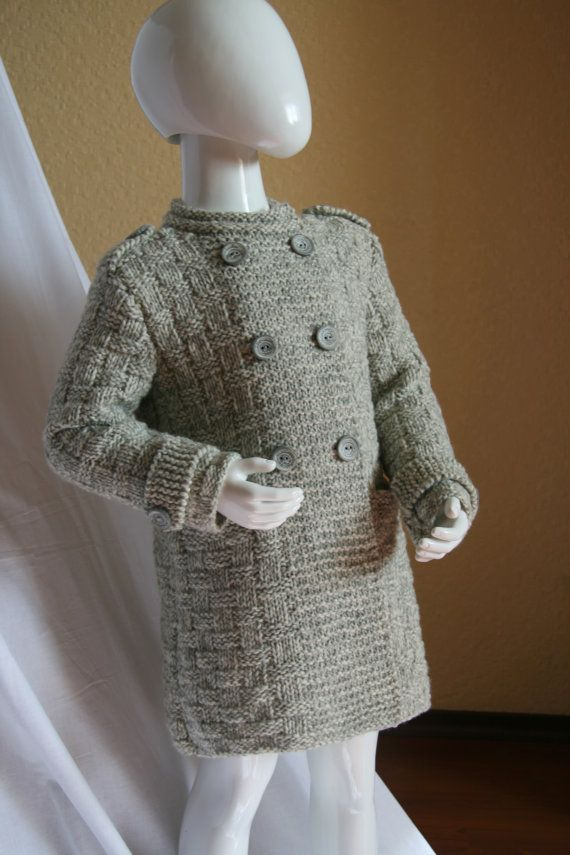 Knitted Girl Coat