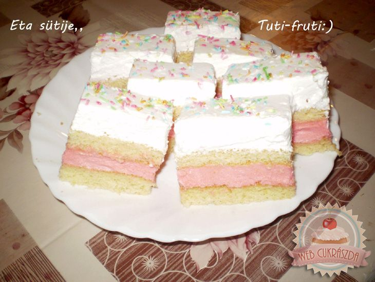Tutti-frutti szelet Eta módra