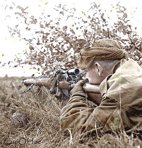 Sniper belgium | Colorized by CupOfJoe. Canadian Sniper, Sho… | Flickr