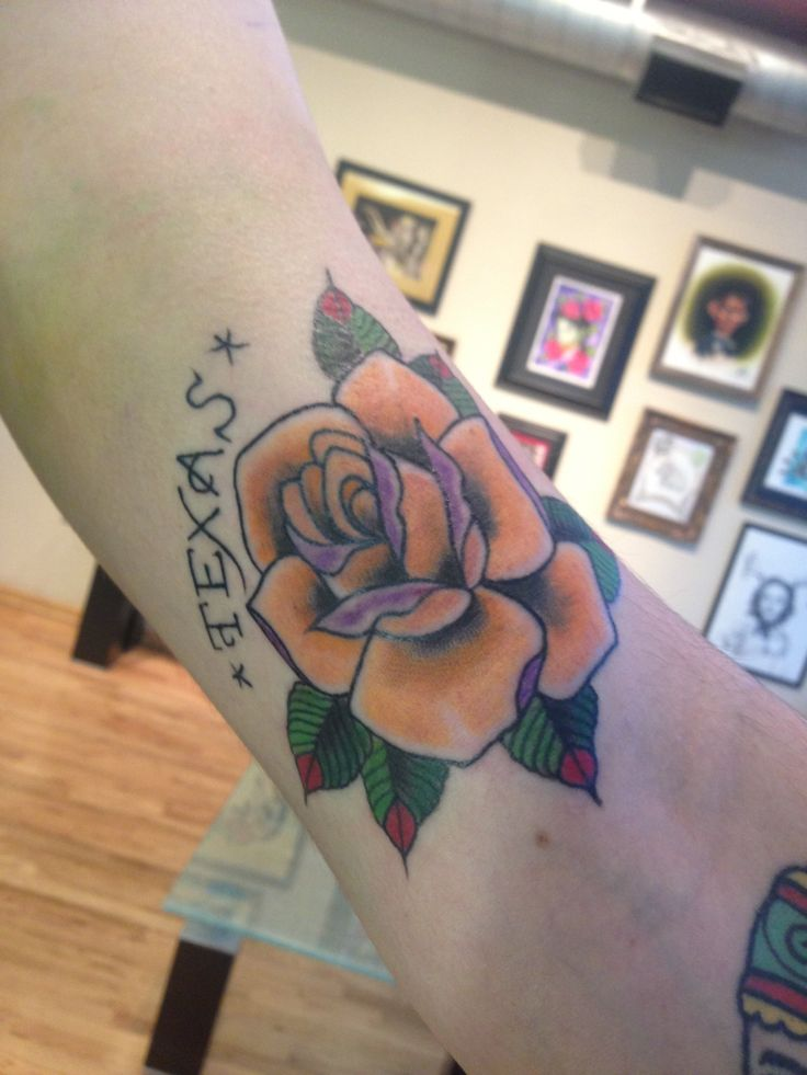 Yellow rose of Texas tattoo, Jessamyn Sommerfield