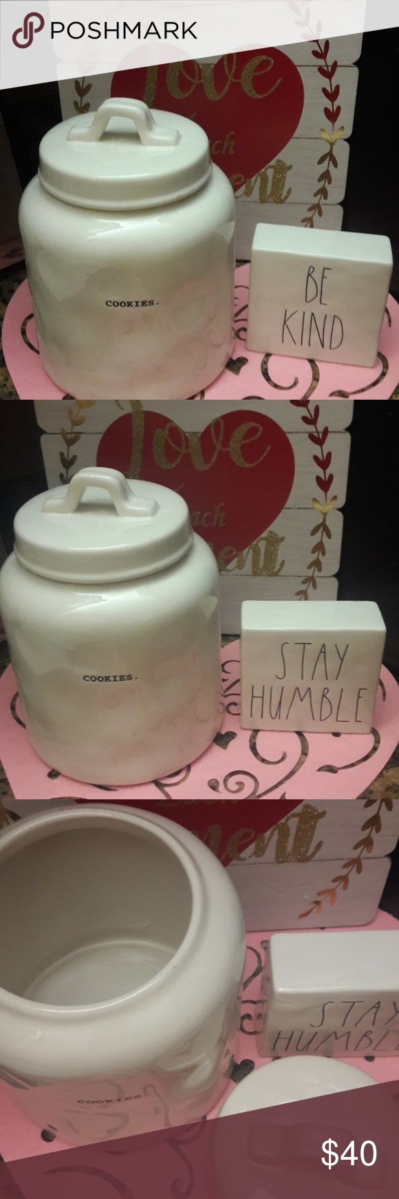 Rae Dunn cookie jar Rae Dunn cookie jar & Other Stories Other
