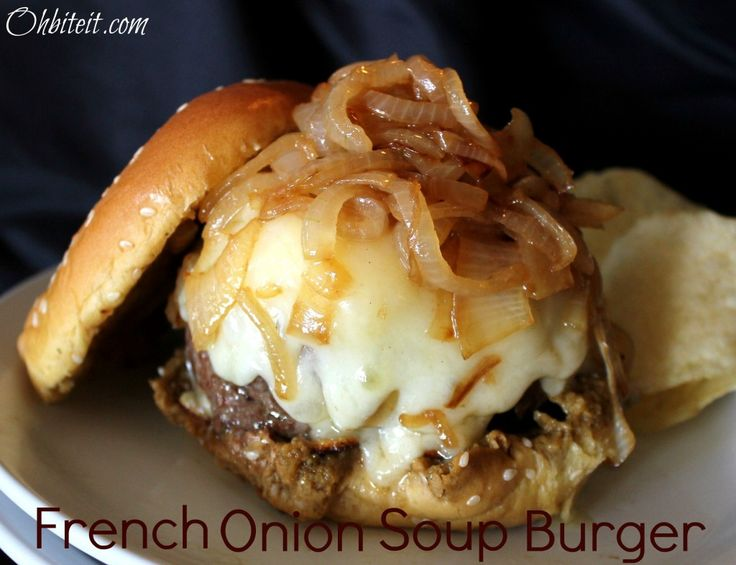 -{ French Onion Soup Burger!...................... These are beyond awesome - made them last night.
