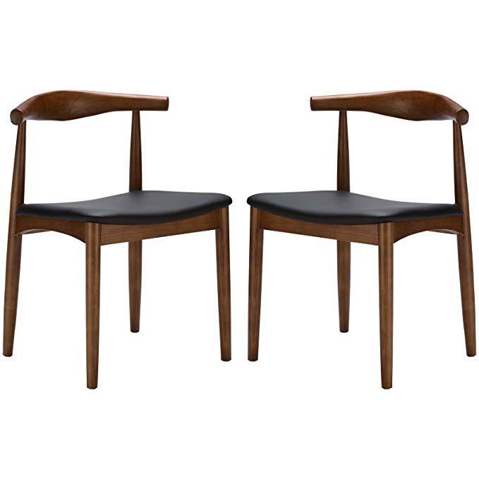 Amazon.com - Poly and Bark Wegner Style Elbow Chair (Set ...