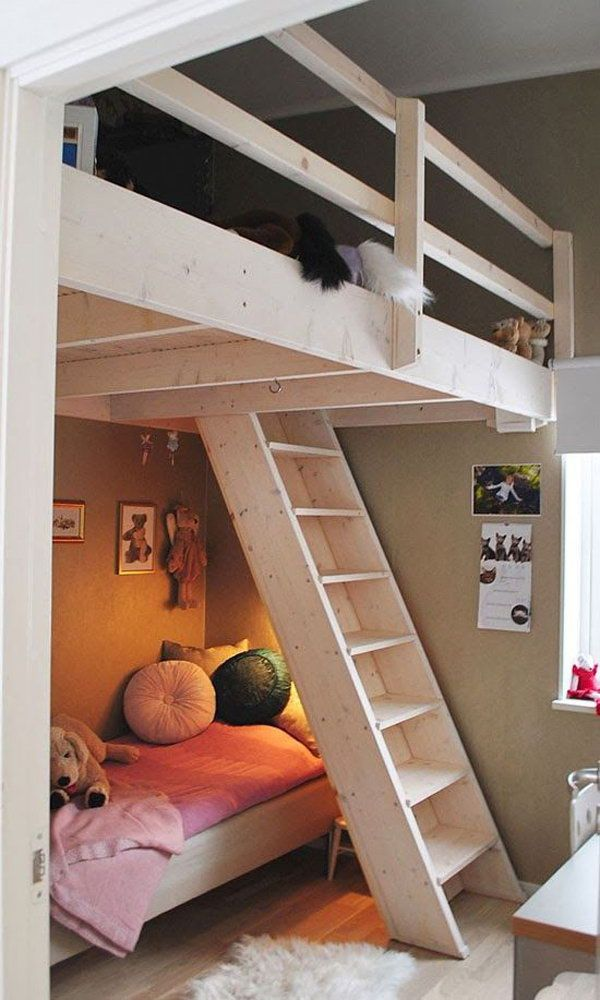 Awesome Small Room Loft Bed