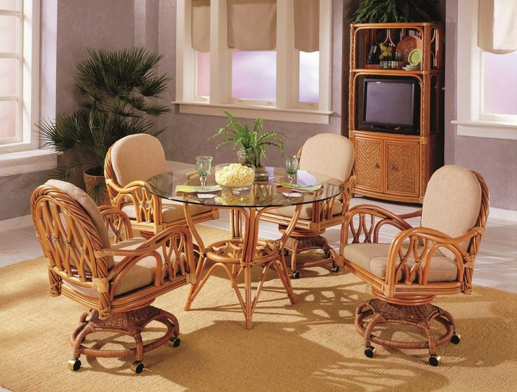 Nice Home With Wicker Dining Chairs Indoor : Deluxe Wicker Rattan Dining  Room Chairs Indoor
