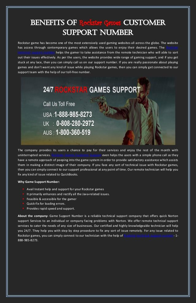 If you are playing online games like as Pogo games,Rockstar Game,EA Sports Games, and while you playing games you are facing any technical problem then call to our Games Customer Support Helpline No +1-888-985-8273 this number will be toll-free for you.