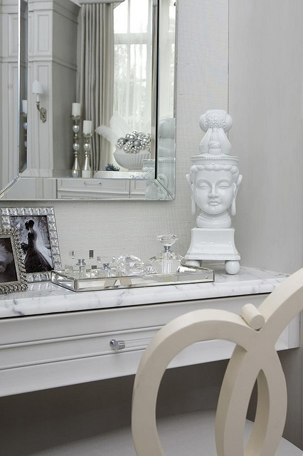 Lady's vanity in wardrobe - Private residence - Atlanta Designed by Michael Habachy for holliday show house