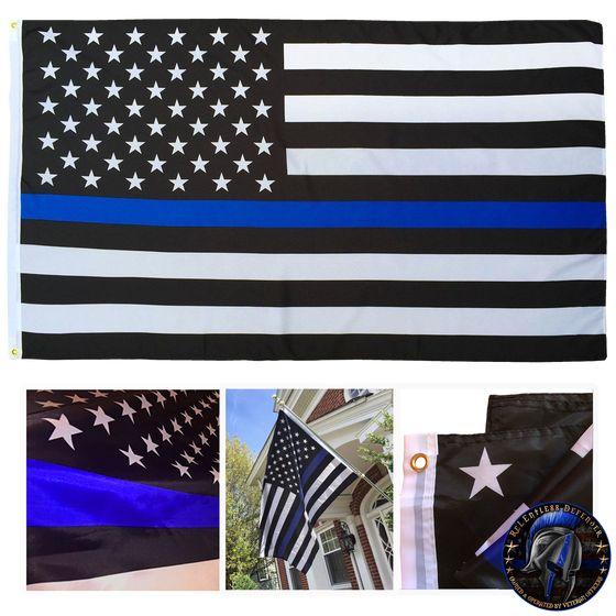 Thin Blue Line flag, blue line flag, police flag