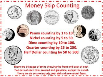 counting money half dollar and skip counting on pinterest. Black Bedroom Furniture Sets. Home Design Ideas