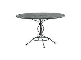 Woodard Mesh Wrought Iron 48'' Round Curved Legs Umbrella Table 190137: LuxePatio.com - $407.55