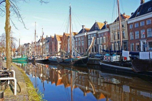 Hoge der Aa (canal) in Groningen.