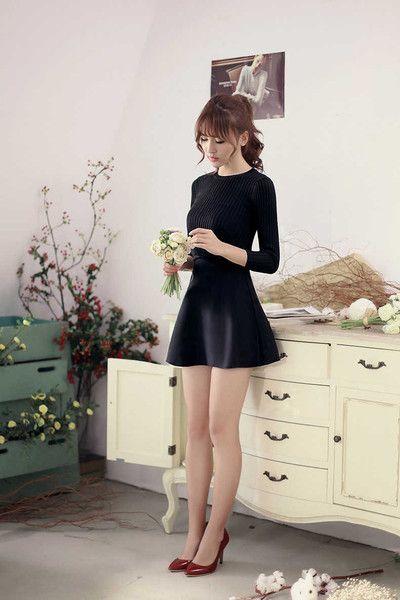 Japanese Style -  knit slim dress - AddOneClothing - 5