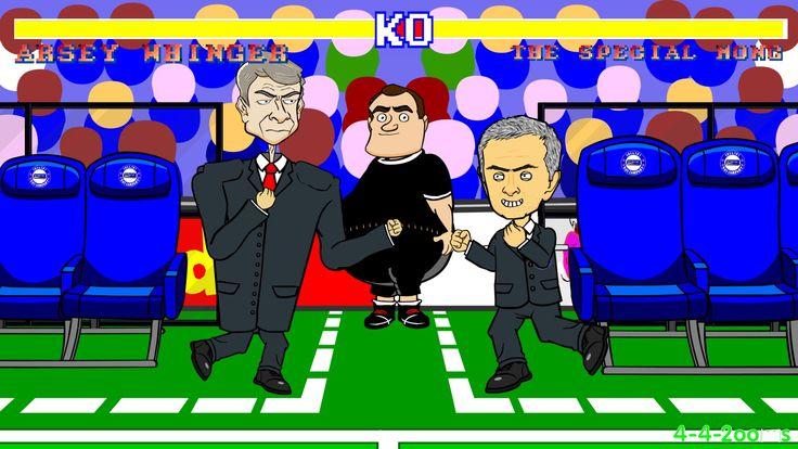 Wenger vs Mourinho FIGHT (Chelsea v Arsenal Highlights, Goals, 2-0 Footb...