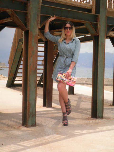 J&T fashion soul: Denim dress