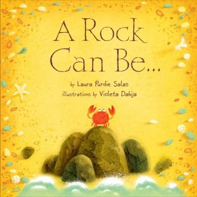 Rocks may seem like boring, static objects--until you discover that a rock can spark a fire, glow in the dark, and provide shelters of all shapes and sizes. Laura Purdie Salas's lyrical rhyming text and Violeta Dabija's ... illustrations show how rocks decorate and strengthen the world around them. K-1.