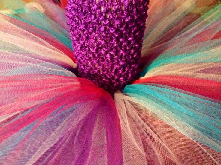 Purple colorful TuTu Dress custom created @Binkys Boutique