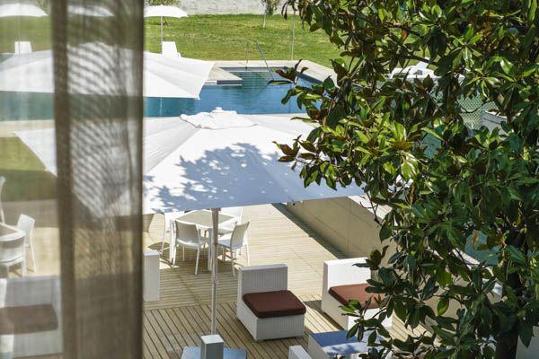 Vista piscina - Hotel Franz