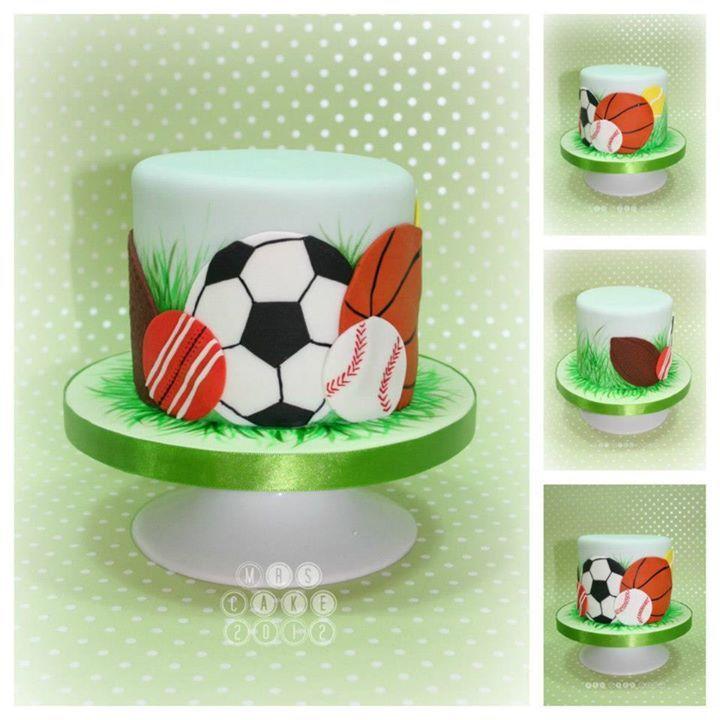 Sports Balls Mini Cake