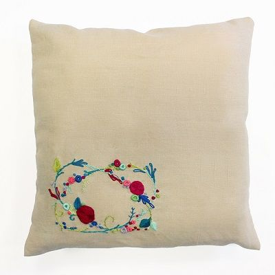 "DMC Embroidery Cushion Kit ""Rose Garland"""