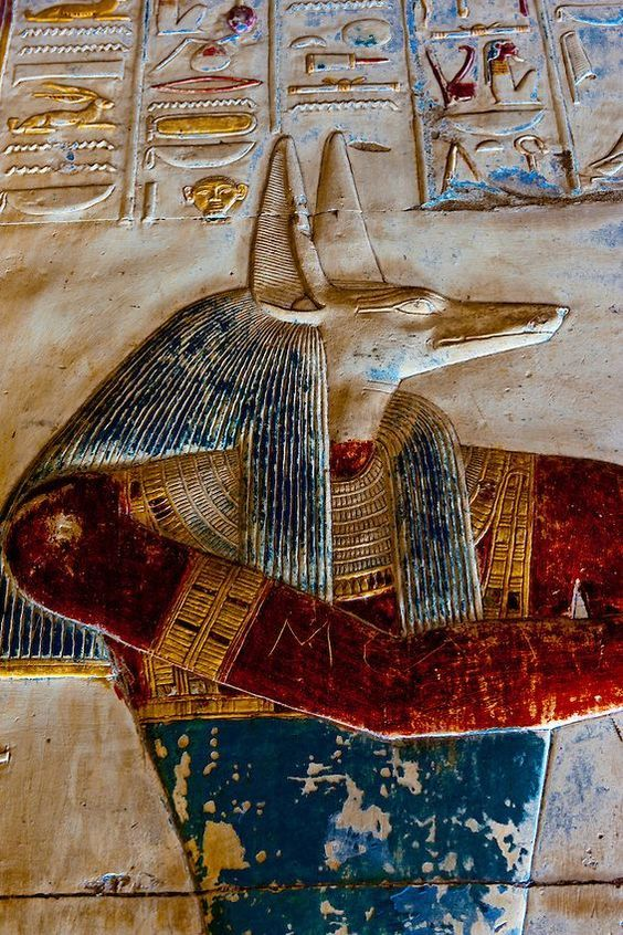 Anubis in the Temple of Seti I in Abydos