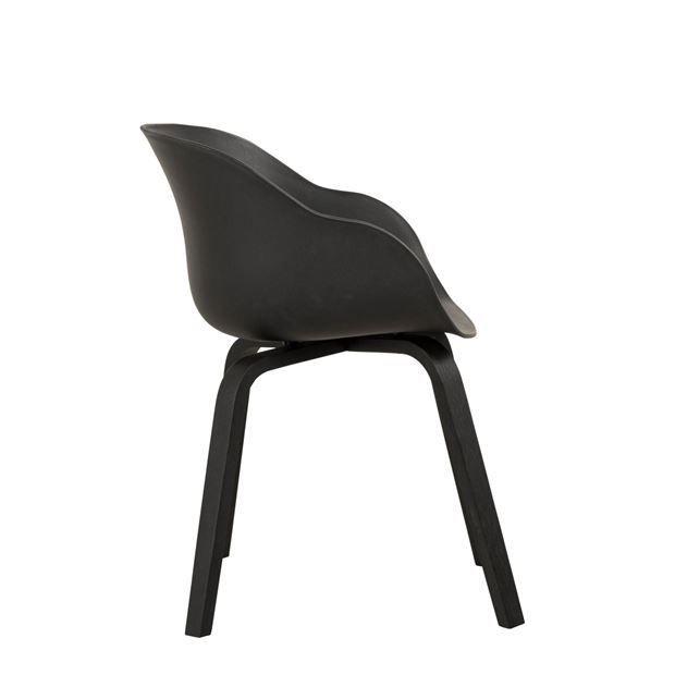 Nils Chaise Noir H 79 X Larg 59 X P 52 Cm En 2020 Chaise Noire Type De Bois Chaise