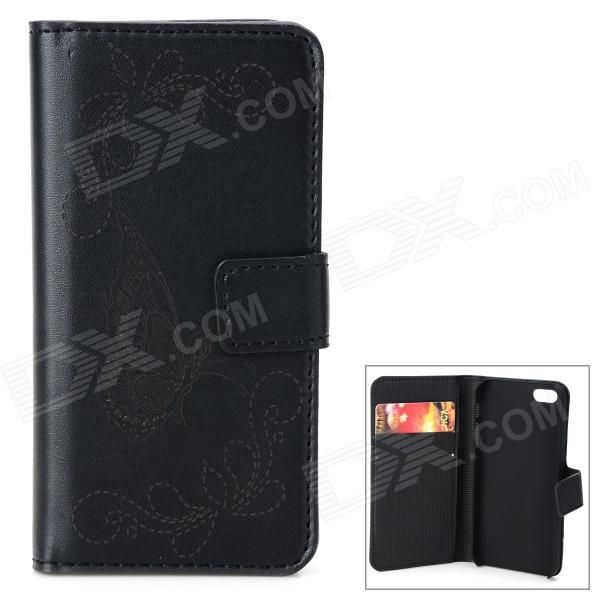 Color: Black + Gold; Brand: N/A; Model: N/A; Quantity: 1 Piece; Material: PU + plastic; Shade Of Color: Black; Compatible Models: IPHONE 5S,IPHONE 5; Style: Flip Open; Design: Solid Color,Graphic,Card Slot; Other Features: Built-in two card slots; Packing List: 1 x Case; http://j.mp/VFZGYZ