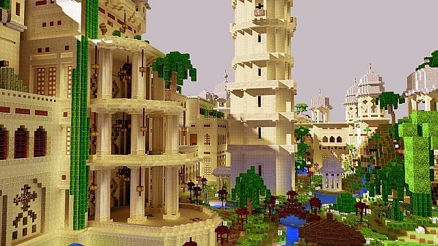 minecraft die mod sonic ether's unbelievable shaders castle | ... Palace Map for Minecraft 1.4.7 | 9Minecraft | Minecraft Downloads