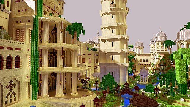 minecraft die mod sonic ether's unbelievable shaders castle | ... Palace Map for Minecraft 1.4.7 | 9Minecraft | Minecraft Downloads