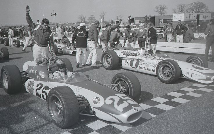 Mario Andretti 1 And Lloyd Ruby Shared The Front Row For