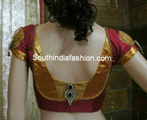 stylish blouse back neck patterns