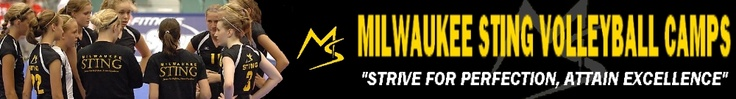 Milwaukee Sting Volleyball 2013 Camps $125. The 1st one is the same week as Greenfield High's. A 2nd one is 7/15/13- 7/18/13,  All Skills Camp 9-11:30am Girls (4th-8th)(9th-12th)Max 160. Challenge Camp* 12:30pm - 3:00pm Girls (7th-8th)Max 32.  Specialty Camp* 12:30pm - 3:00pm Girls (9th-12th)Max 80. ***Note those registering for the Challenge camps must have previous club experience. Specialty Camps will be limited to 20 Setters, 30 Outside Hitters, 20 Middle Hitters, and 10 Liberos.