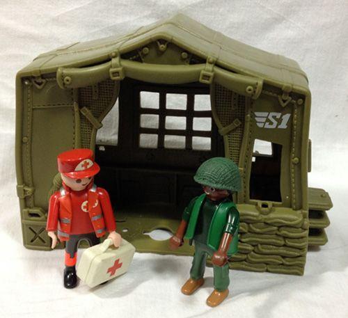 Diorama Campamento Sanitario militar- Base aérea, de la Guerra del Vietnam.