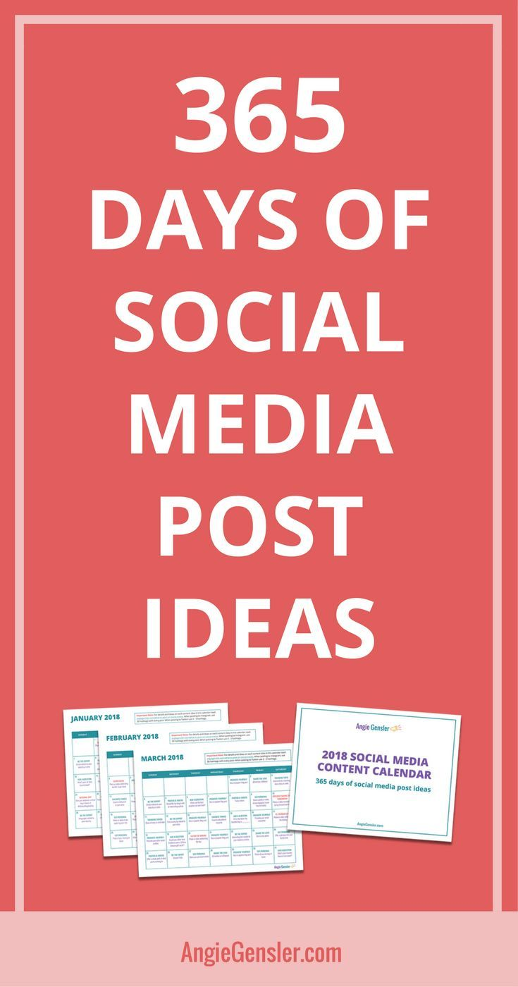 Get 366 Days Of Social Media Post Ideas Planned Out For You
