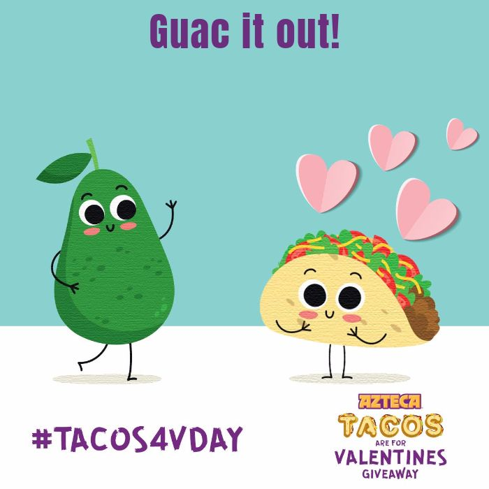 I entered the #tacosr4vday giveaway from Azteca Tortillas! Enter too and you could win.