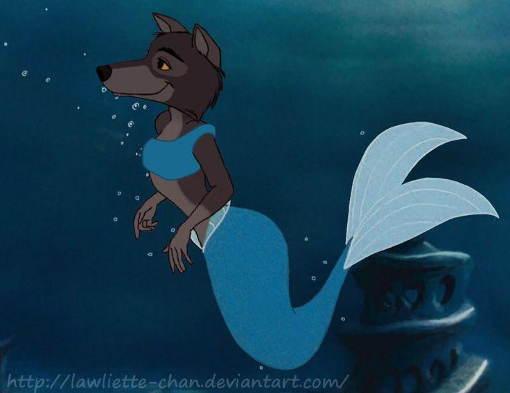 raksha_merwolf___request___by_lawliette_chan-dapcfvl.jpg  Raksha, mermaid, merwolf, the jungle book