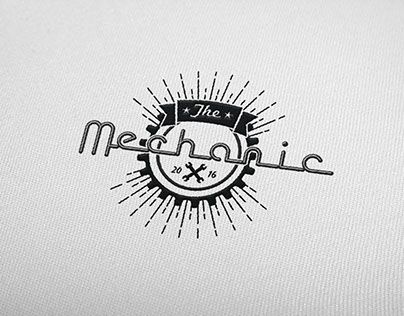 "Check out new work on my @Behance portfolio: ""the mechanic logo"" http://be.net/gallery/45061647/the-mechanic-logo"