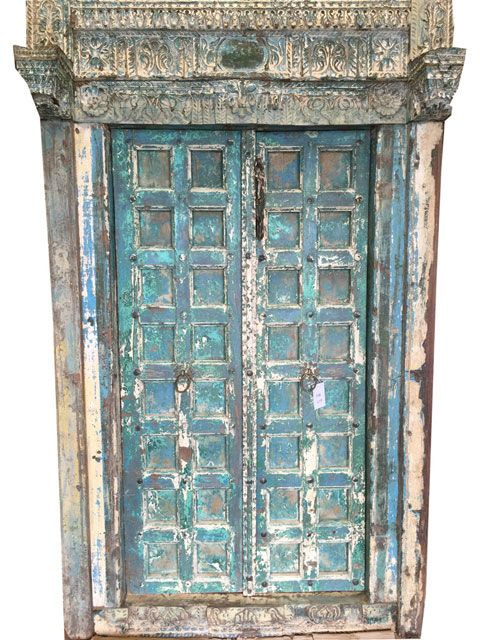 Antique Style Wood Door Blue Patina The Ancient of Days Of Maharajas Of  India #antiquedoors - 43 Best #indian Antique Carved Door Panel Images On Pinterest