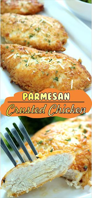 Parmesan Crusted Chicken | Floats CO #chicken #chi…