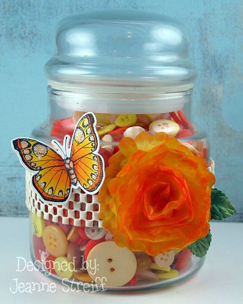 Hero Arts / Sizzix Framelits. Sizzix BigzJeanne Streiff, Sizzix Projects, Sizzix Die, Buttons Jars, Awesome Projects, Art Butterflies, Butterflies Buttons, Flower Die, Wraps Flower